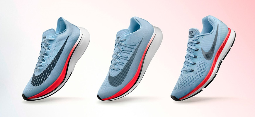 newest collection d61df 8d72e Mitten  Nike Zoom Fly. Till höger  Nike Air Zoom Pegasus 34.