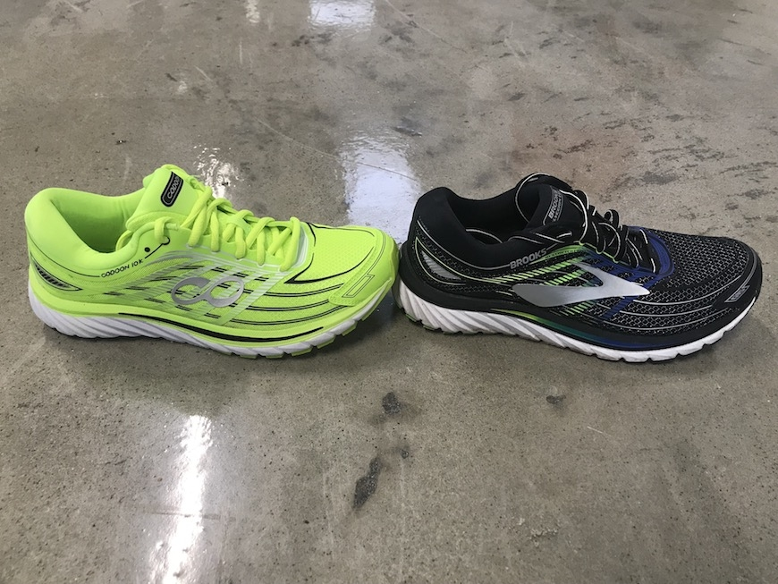 Codoon løbesko vs. Brooks Glycerin 15