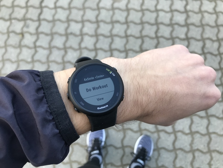 interval garmin forerunner 45