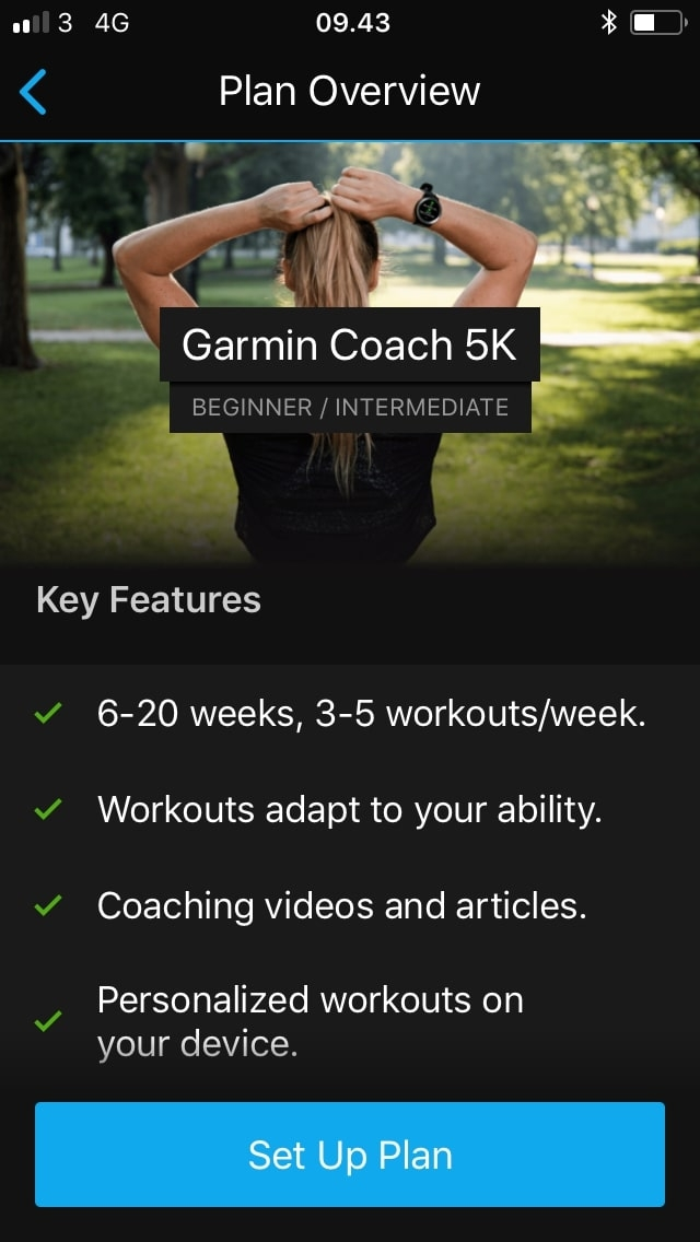 garmin coach training plan