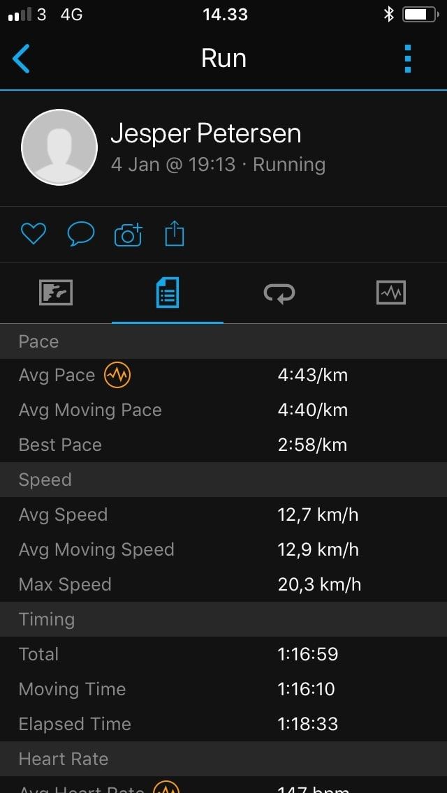 garmin connect stats