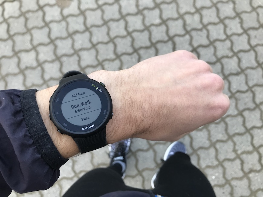 garmin forerunner 45 run walk