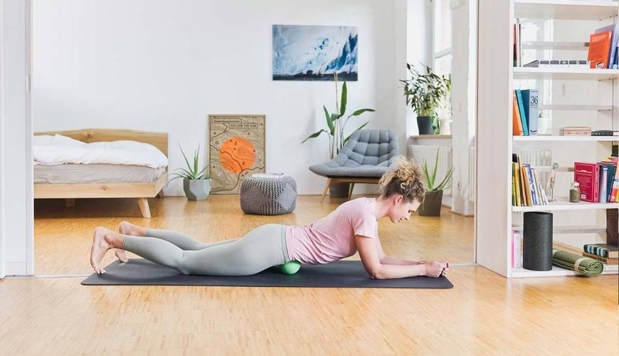 löparknä massageövning
