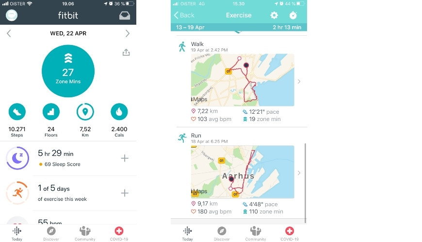 fitbit charge 4 activity overview